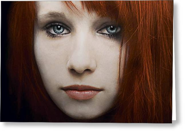 Blue Hair Greeting Cards - I can see the ocean in your eyes Greeting Card by Joachim G Pinkawa