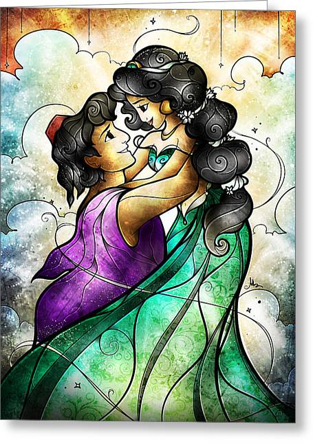 Aladdin Greeting Cards - I Choose You Greeting Card by Mandie Manzano