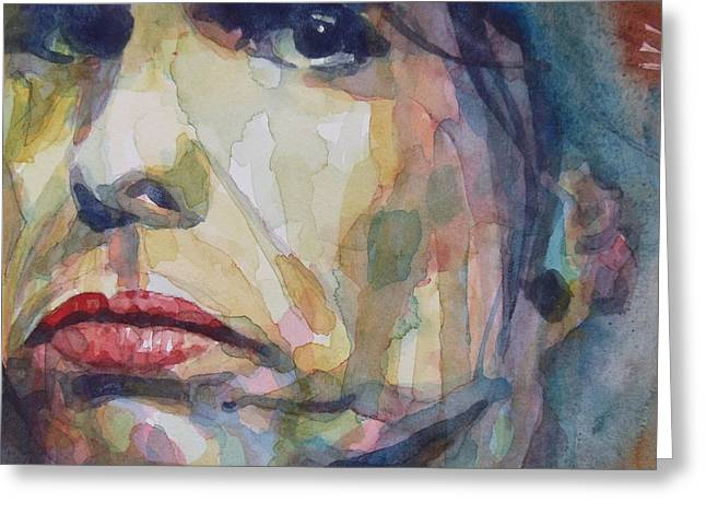 Musicians Paintings Greeting Cards - I Could Spend My Life In This Sweet Surrender Greeting Card by Paul Lovering