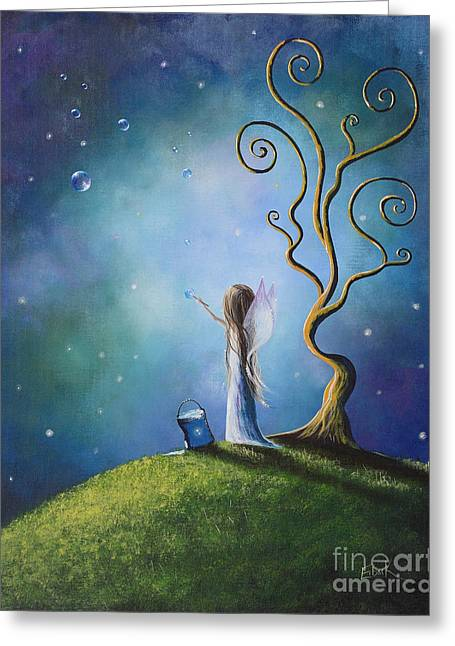 Faerie Paintings Greeting Cards - I Do Believe In Fairies by Shawna Erback Greeting Card by Shawna Erback