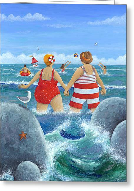 Beside Greeting Cards - I Do Like To Be Beside The Seaside Greeting Card by Peter Adderley