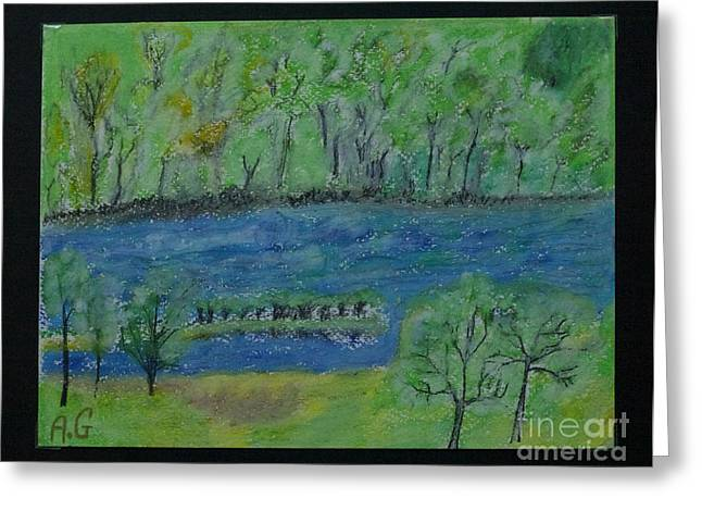 Featured Pastels Greeting Cards - I do love you spring. Arrete-toi tu es si beau  Views 84 Greeting Card by  Andrzej Goszcz