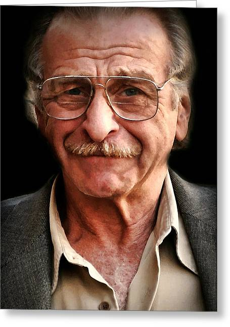 Candid Portraits Greeting Cards - I Dont Know Him Greeting Card by Diana Angstadt