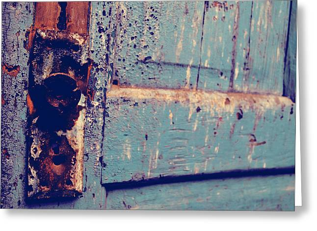 Old Door Greeting Cards - I Doubt it  Greeting Card by Jerry Cordeiro