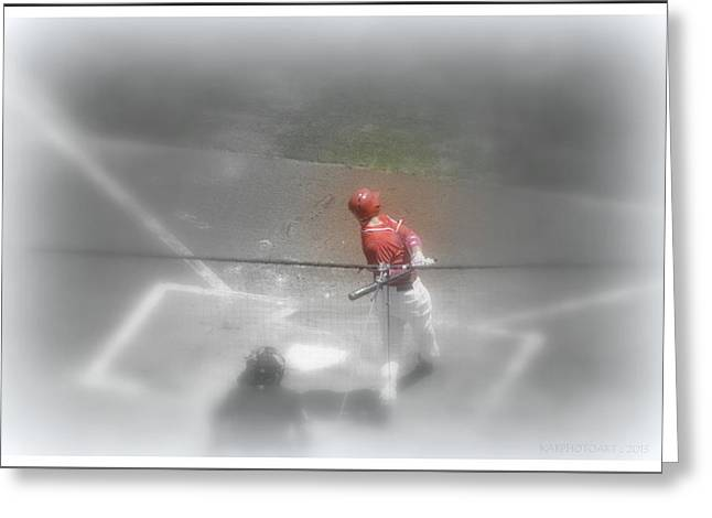 The Dream Team Greeting Cards - I Dream of Baseball Greeting Card by Kathy Barney