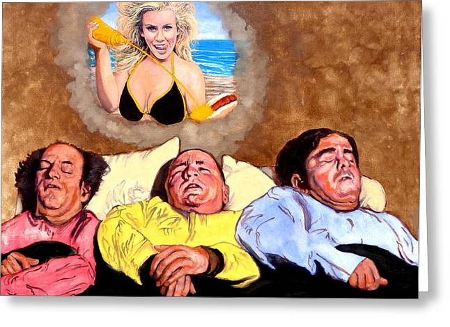 Celebrity Portrait Greeting Cards - I Dream of Jenny Greeting Card by Tom Roderick