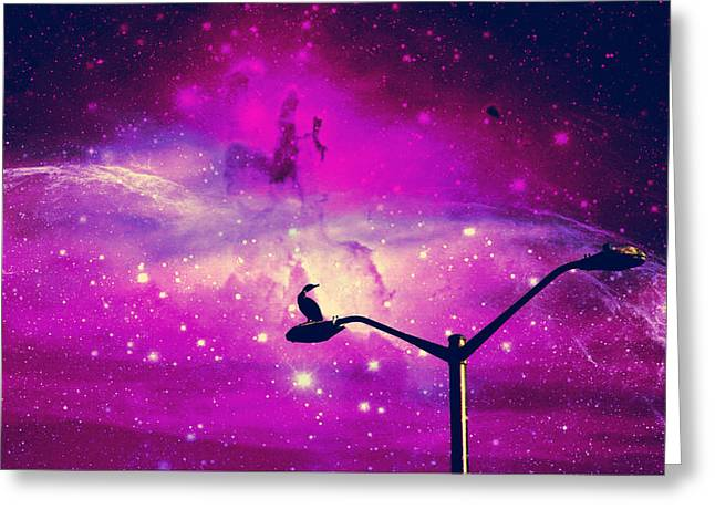 Night Lamp Greeting Cards - I Dreamed I Touched The Stars III Greeting Card by Aurelio Zucco
