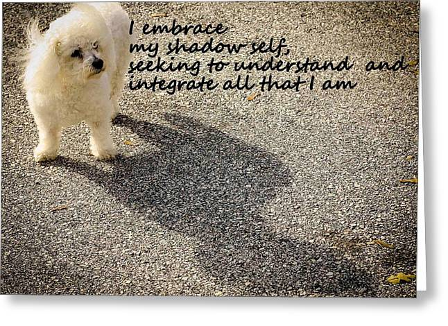 Affirmation Greeting Cards - I Embrace Greeting Card by Patrice Zinck