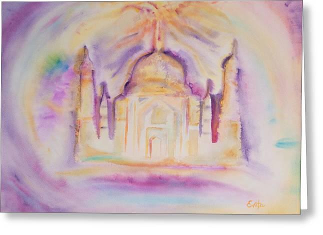 Shambala Greeting Cards - I feel the Kings energy in You Greeting Card by Evita Kristapsone