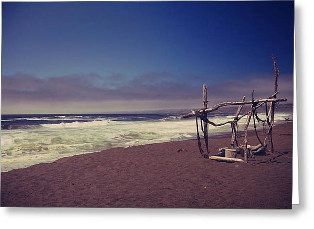 California Beach Greeting Cards - I Feel You Slipping Away Greeting Card by Laurie Search