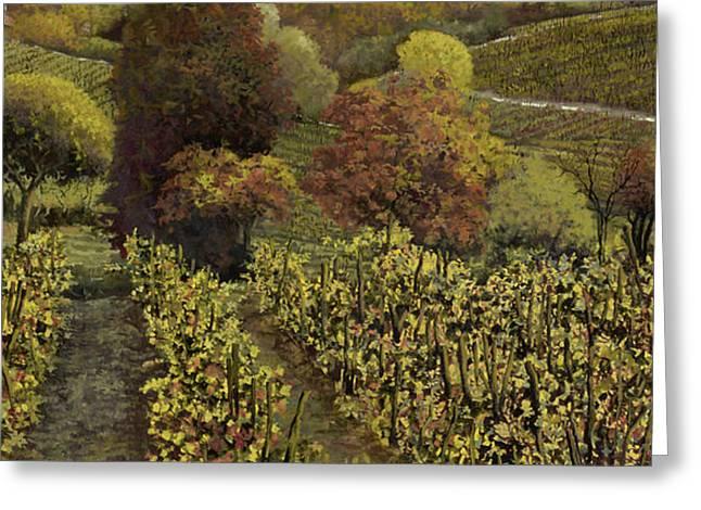 I filari in autunno Greeting Card by Guido Borelli