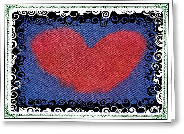 Harts Digital Greeting Cards - I Give You My Heart Greeting Card by Bill Cannon