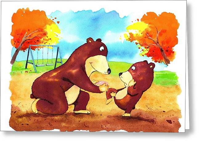 Scott Nelson And Son Greeting Cards - I got a bobo.  Greeting Card by Scott Nelson