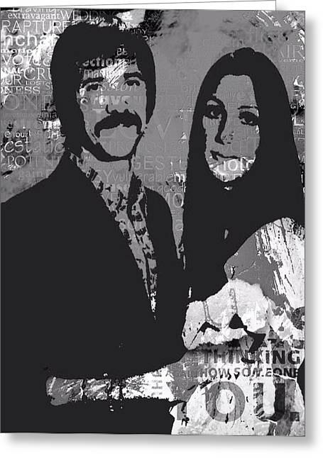 Sonny Bono Greeting Cards - I Got You Babe Greeting Card by Trisha Buchanan