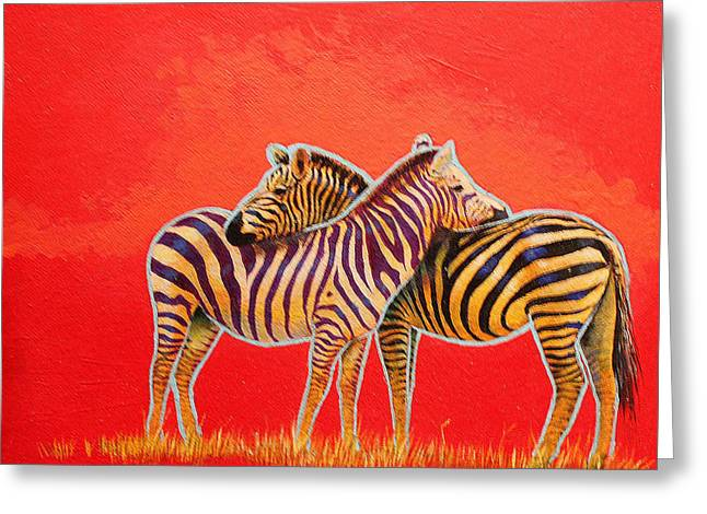 Zimbabwe Paintings Greeting Cards - I Got Your Back Greeting Card by Keith Alway