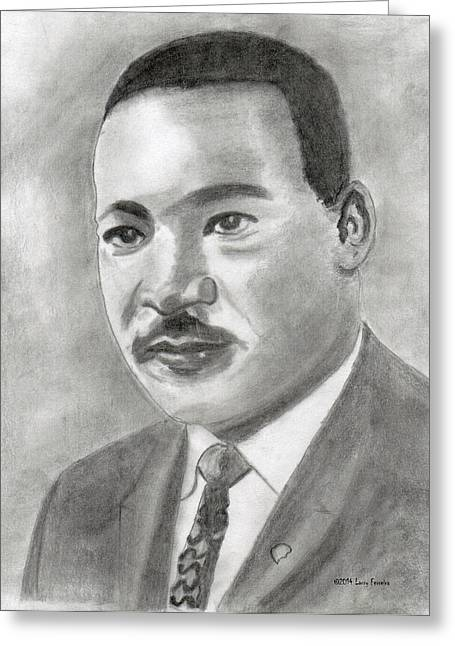 Assassinated Drawings Greeting Cards - I Have A Dream Greeting Card by Larry Ferreira