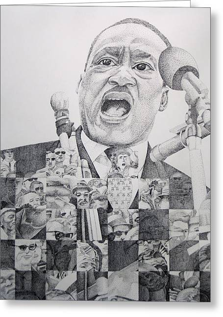 Recently Sold -  - Civil Greeting Cards - I have a Dream Martin Luther King Greeting Card by Joshua Morton