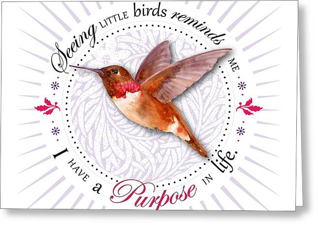Centric Greeting Cards - I have a purpose in life Greeting Card by Amy Kirkpatrick