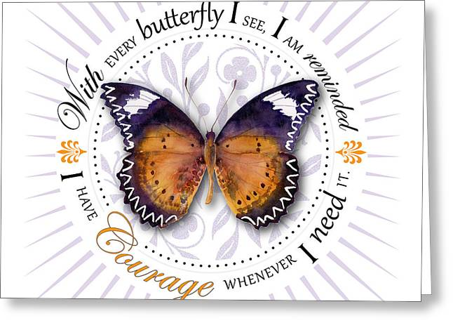 Courage Greeting Cards - I have courage whenever I need it Greeting Card by Amy Kirkpatrick