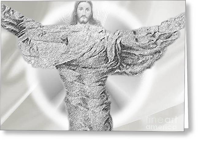 Resurrection Drawings Greeting Cards - I Have Risen Greeting Card by Belinda Threeths