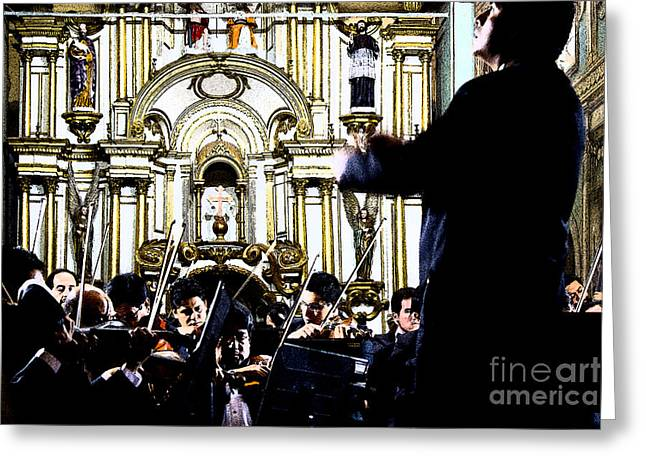 Hear Greeting Cards - I Hear A Symphony Greeting Card by Al Bourassa