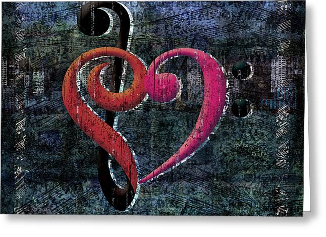 Marching Band Greeting Cards - I Heart Music Greeting Card by Evie Cook