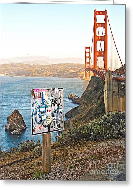 Sausalito Greeting Cards - I Heart San Francisco Greeting Card by Gabriele Pomykaj
