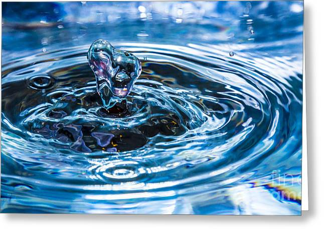 Must Have Greeting Cards - I Heart Water Greeting Card by Cj Avery