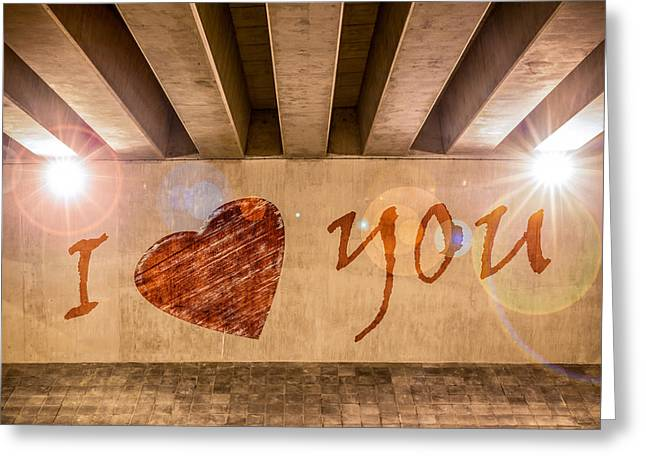I Write Greeting Cards - I Heart You Greeting Card by Semmick Photo