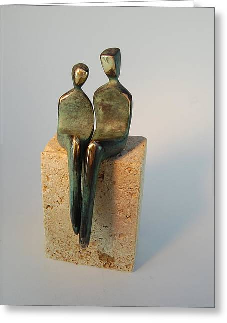 Santa Fe Sculptures Greeting Cards - I heart you Greeting Card by Yenny Cocq