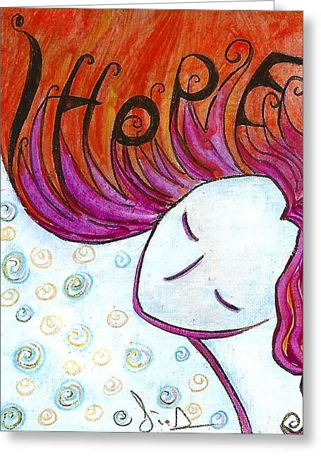 Gioia Greeting Cards - I hope Greeting Card by Gioia Albano