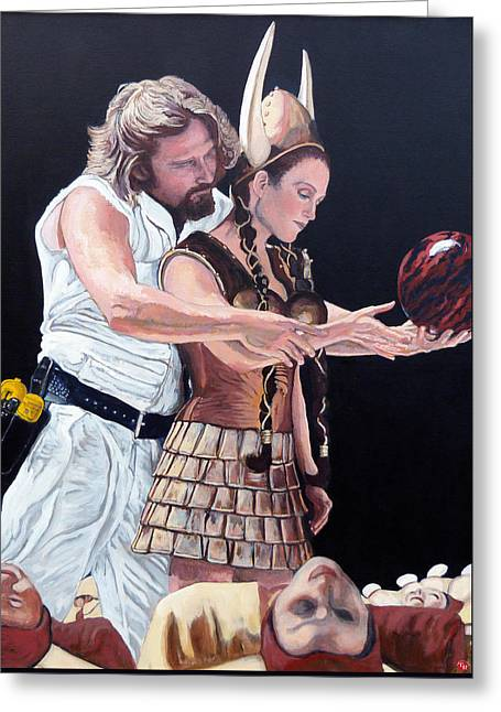 Big Lebowski Greeting Cards - I Just Dropped In Greeting Card by Tom Roderick