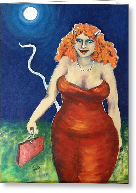 Evening Handbag Greeting Cards - I know what I want Greeting Card by Kristina Granholm