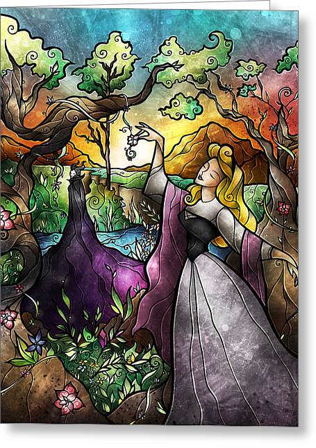 Maleficent Greeting Cards - I Know You Greeting Card by Mandie Manzano