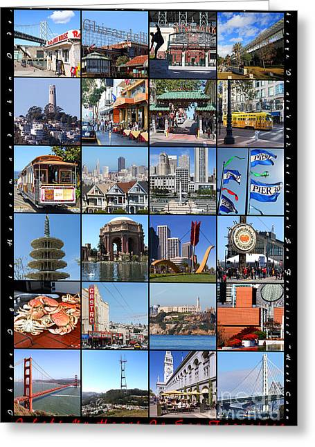 Union Square Photographs Greeting Cards - I Left My Heart In San Francisco 20150103 vertical with text Greeting Card by Wingsdomain Art and Photography