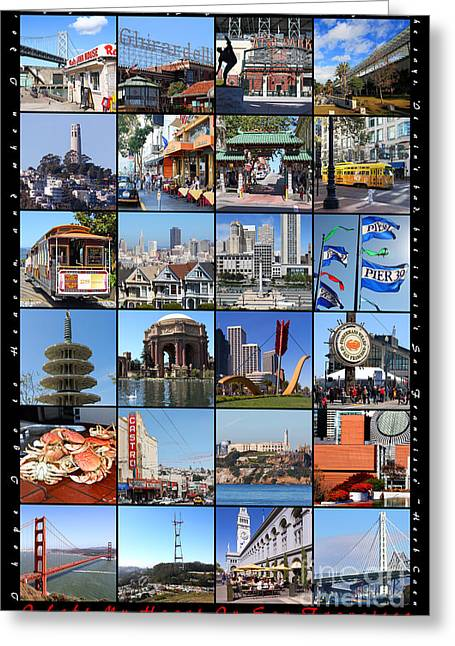 Sf Peaks Greeting Cards - I Left My Heart In San Francisco 20150103 vertical with text Greeting Card by Wingsdomain Art and Photography