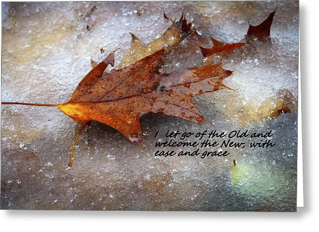 Affirmation Greeting Cards - I Let Go Greeting Card by Patrice Zinck