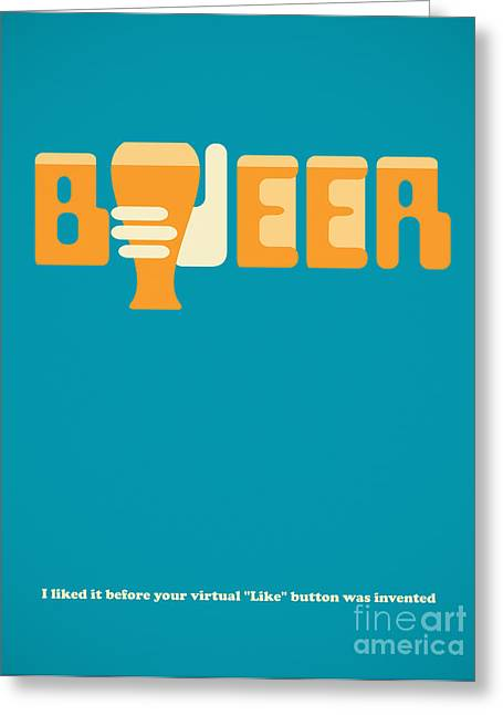 Goblet Greeting Cards - I like beer Greeting Card by Igor Kislev