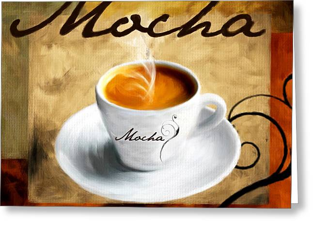 Hot Shop Greeting Cards - I Like  That Mocha Greeting Card by Lourry Legarde