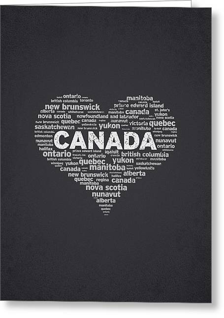 Canada Mixed Media Greeting Cards - I Love Canada Greeting Card by Aged Pixel