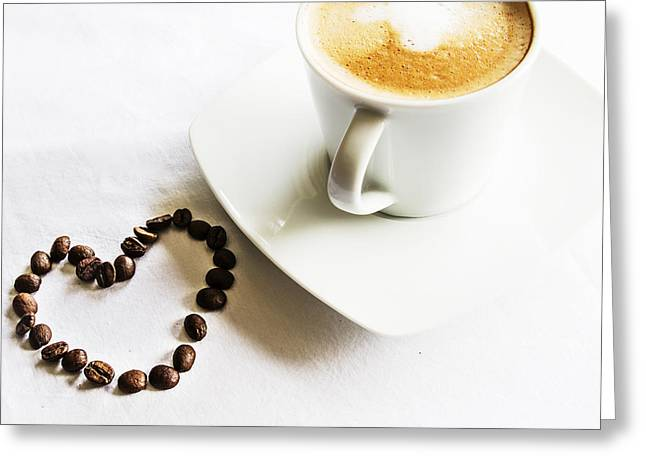 Drink Me Greeting Cards - I Love Coffee Greeting Card by Nomad Art And  Design