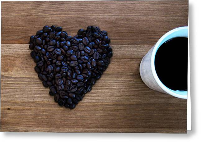 Greeting Cards - I Love Coffee Greeting Card by Nicklas Gustafsson
