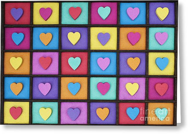 Spectrum Greeting Cards - I Love Colour Greeting Card by Tim Gainey