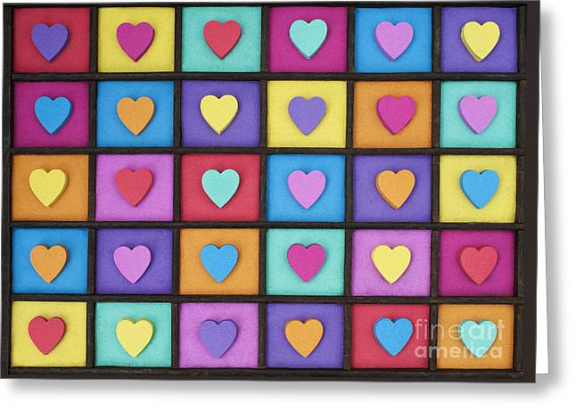 I Love Colour Greeting Card by Tim Gainey