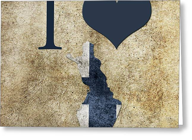 Love Greeting Cards - I love Finland Greeting Card by Gina Dsgn