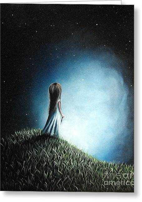 Precious Paintings Greeting Cards - I Love Her So Much I Cry by Shawna Erback Greeting Card by Shawna Erback