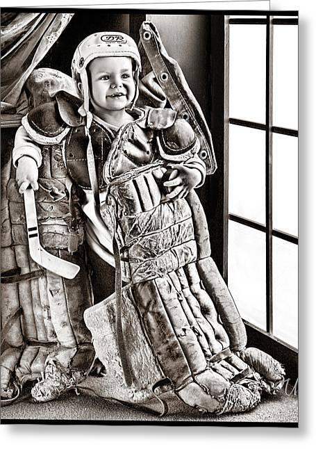 I Love Hockey Greeting Card by Elizabeth Urlacher