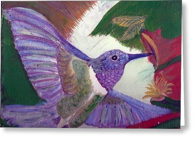 I Love Hummingbirds  Greeting Card by Anne-Elizabeth Whiteway