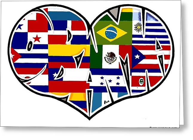 Reform Drawings Greeting Cards - I Love Immigration Reform Greeting Card by Alexis Heath