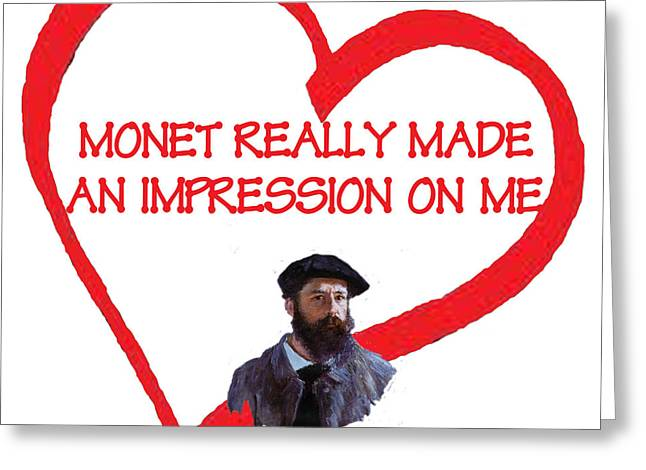 Humorous Greeting Cards Digital Art Greeting Cards - I Love Monet Greeting Card by Philip Ralley